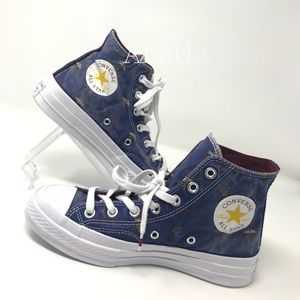 Converse 70 HI College Canvas Navy W AUTHENTIC